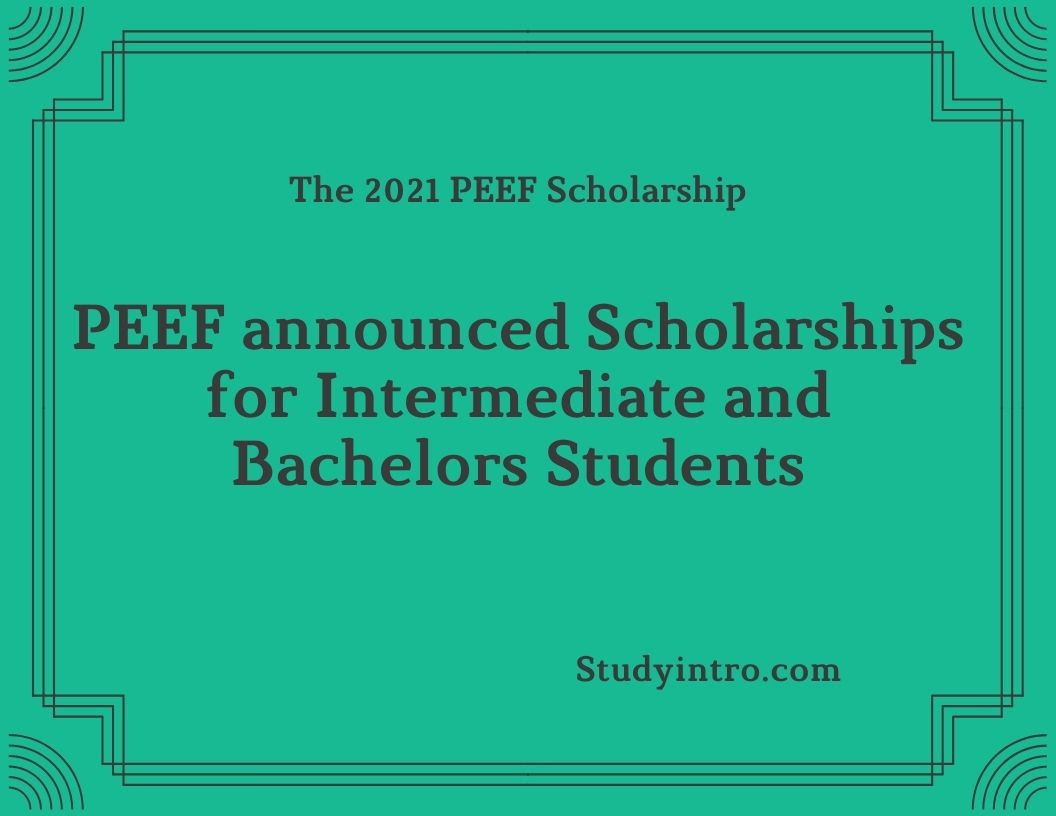 PEEF announces Scholarships