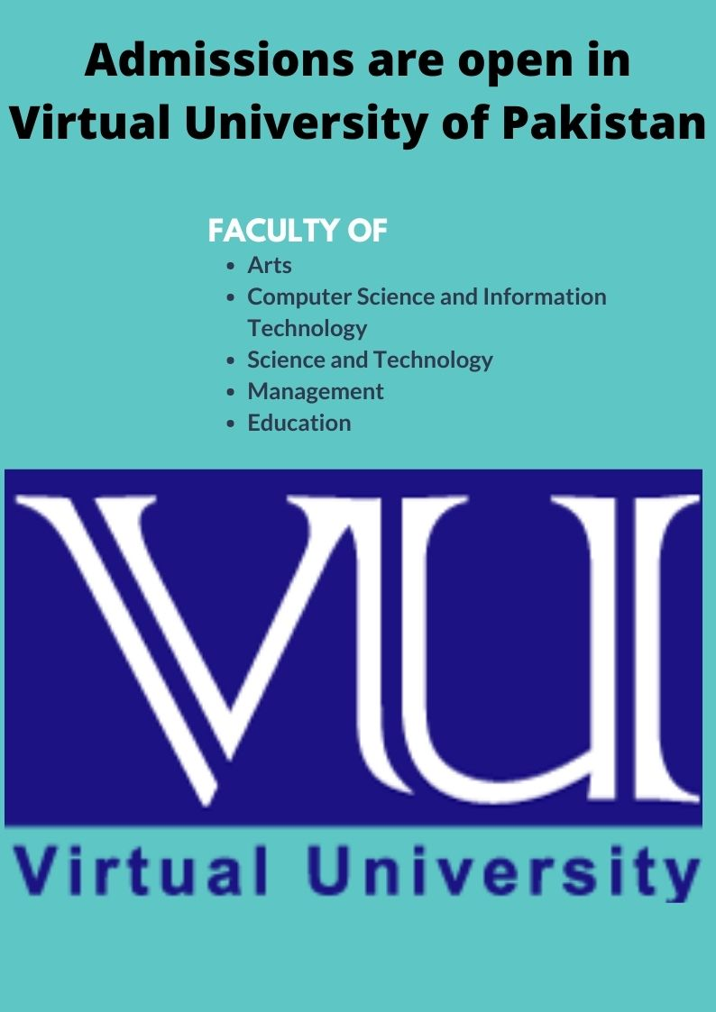 Admission are open in Virtual University