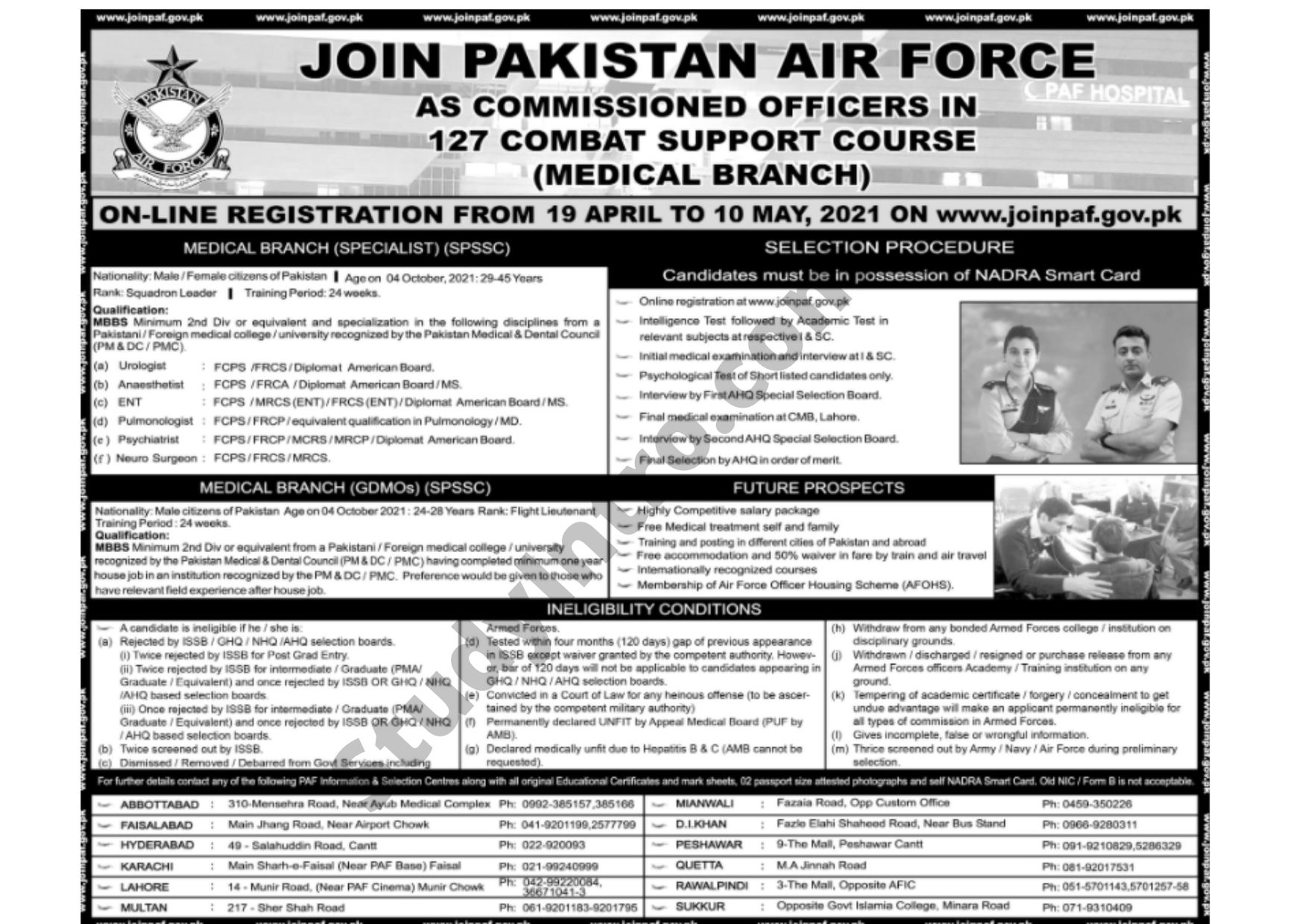 Join PAF as a Commissioned Officer