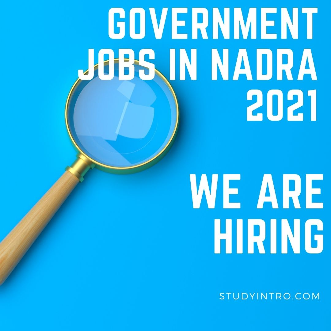 Government Jobs in NADRA 2021