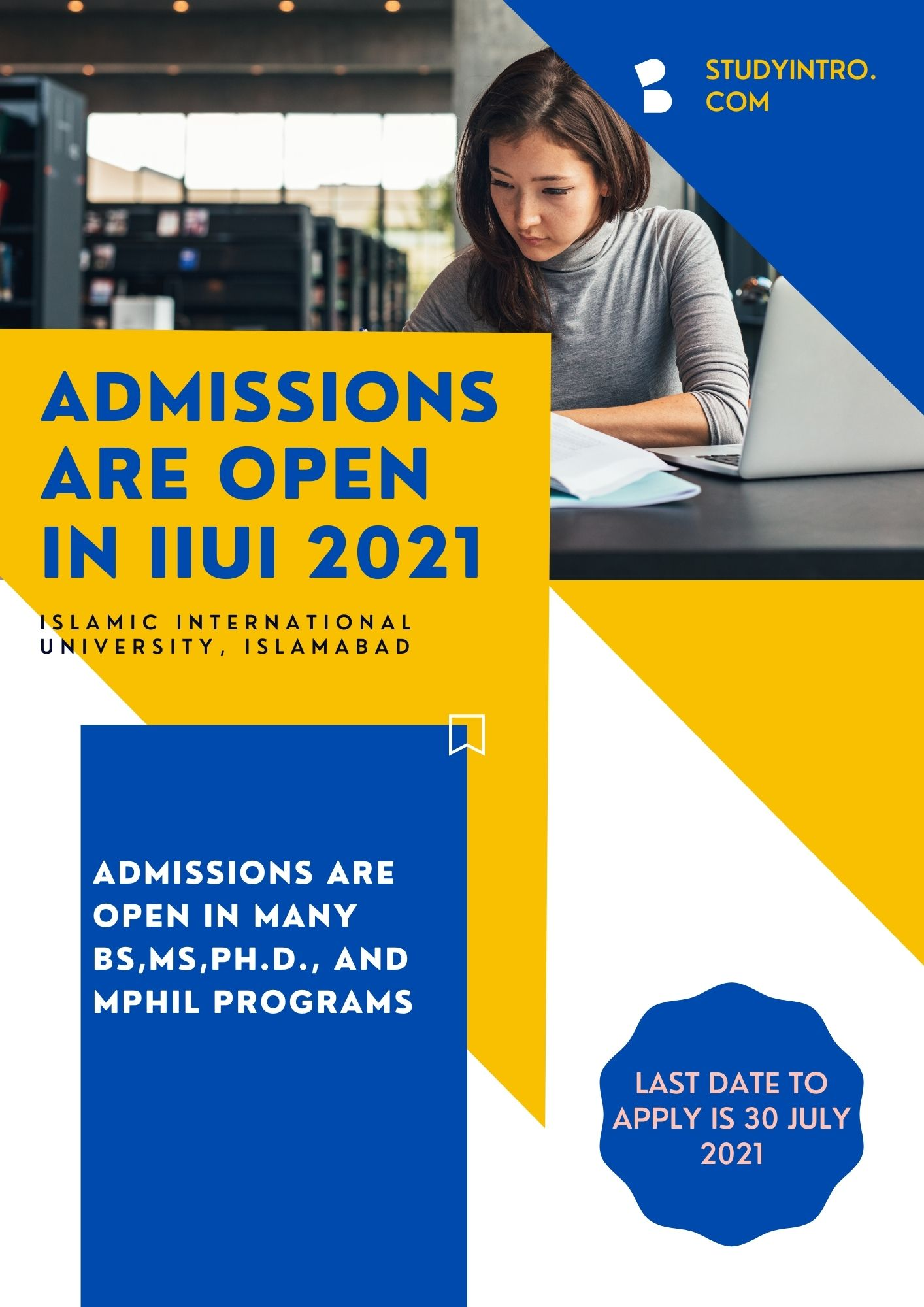 Admissions are Open in IIUI 2021