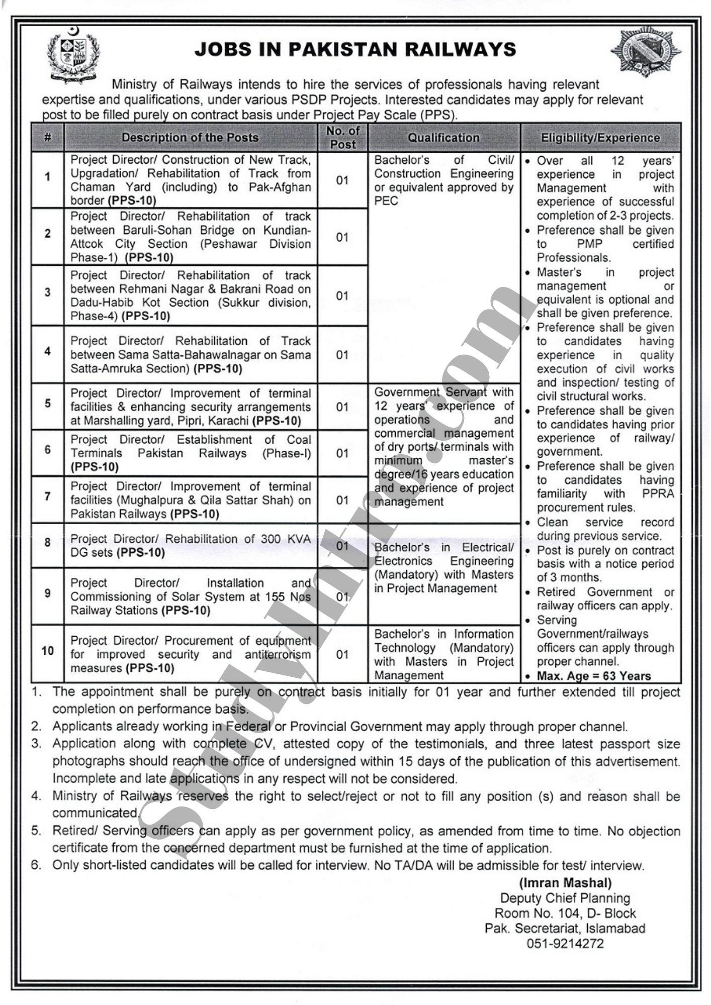 Govt Jobs in Railway Department 2021