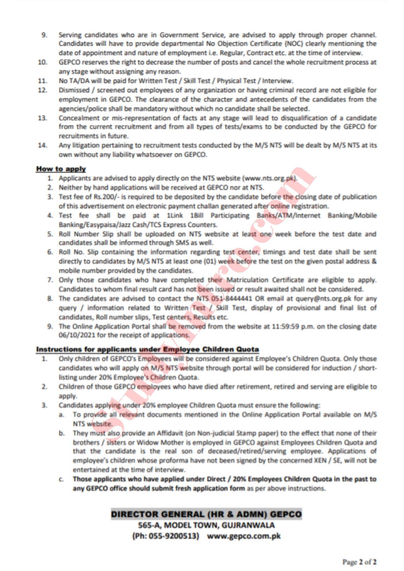 1470+ Govt Jobs in GEPCO (WAPDA) 2021-Apply Now